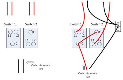 how do you wire a light switch change 2 gang 1 way light switch in kitchen wiring probs