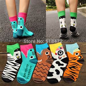 Hot!! New style Cute animals lovely cartoon cotton socks ...