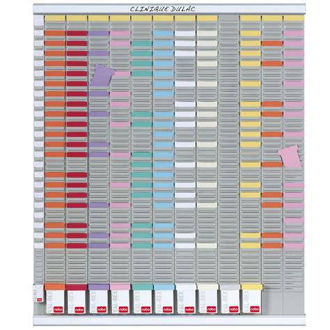 fourniture de bureau nobo kit planning annuel 13 colonnes 54 fentes planning
