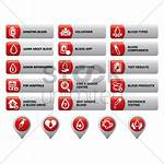 Vector Illustration Blood Icons Stockunlimited