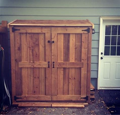 my version of the small cedar fence picket storage shed