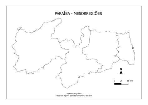 MAPAS PARA COLORIR PARAÍBA Suporte Geográfico