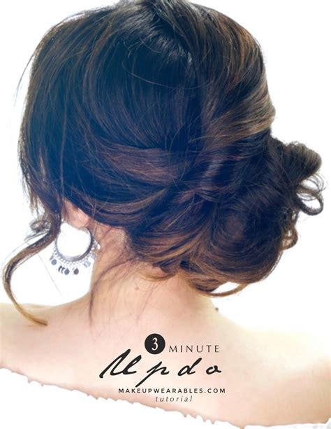 how to quick updo hairstyle for long medium hair easy
