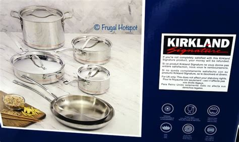 kirkland signature stainless steel cookware costco sale frugal hotspot