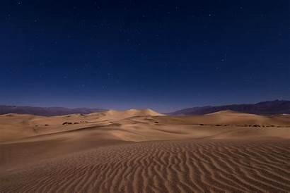 Desert Night Sand Dunes Flat Mesquite Dune