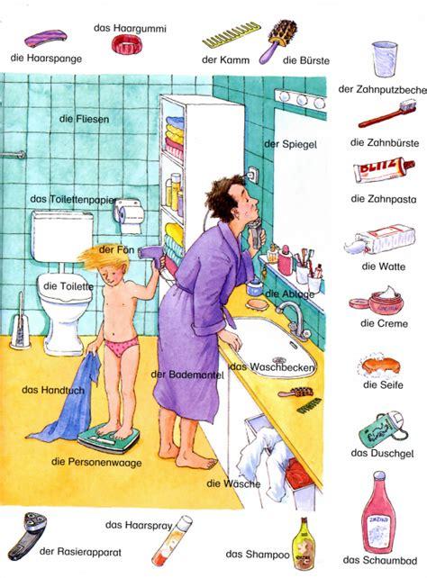 im badezimmer deutsch lernen