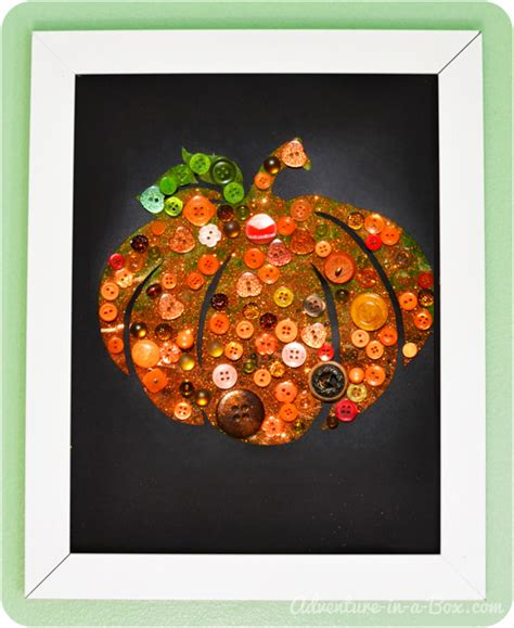 button pumpkin easy autumn craft 615 | pumpkin button collage 1