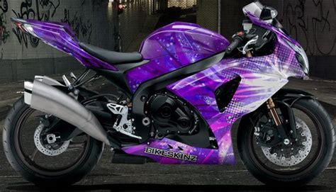 purple motocross purple ninja motorcycle shown on gsxr select your bike