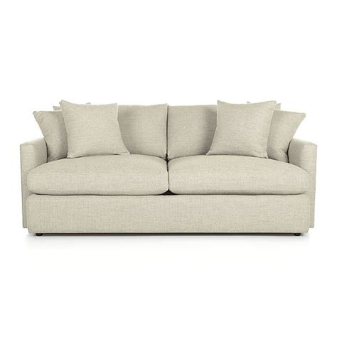 crate and barrel settee lounge ii 83 quot sofa cement crate and barrel