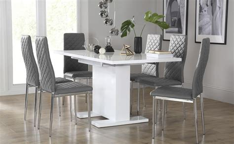 grey kitchen table and chairs 20 ideas of dining tables with grey chairs dining room ideas