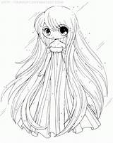 Coloring Princess Pages Anime Chibi sketch template