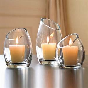 hearthstone diagonal cut glass candle holders modern With kitchen colors with white cabinets with cut glass votive candle holders