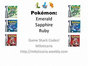 Pokemon Emerald Gameshark Action Replay Acars