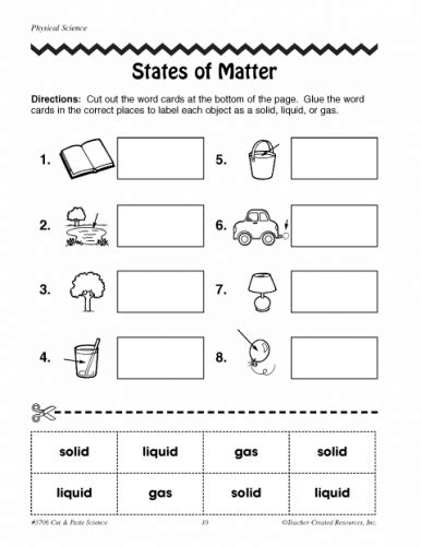 worksheets for grade 2 matter states of matter worksheets 2nd grade teaching science