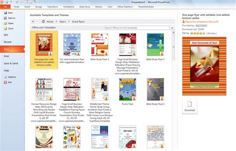 powerpoint flyer templates flyer templates in powerpoint 2010 powerpoint presentation