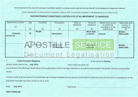 apostilles  certificate   impediment apostille