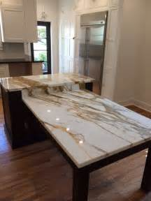 Island Tables For Kitchen With Stools Brown Quartz Kitchen Tops Calacatta Gold Marble Island Contemporary Kitchen Miami By