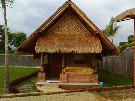 rumah bambu minimalis desain gambar harga