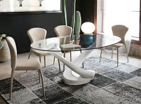 contemporary target point tango glass oval dining table