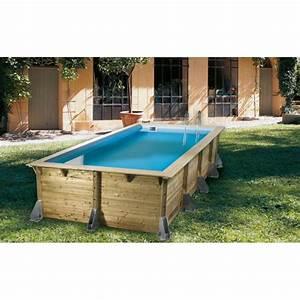 Piscine Semi Enterrée Rectangulaire : piscine bois rectangulaire azura nortland ubbink piscine ~ Zukunftsfamilie.com Idées de Décoration