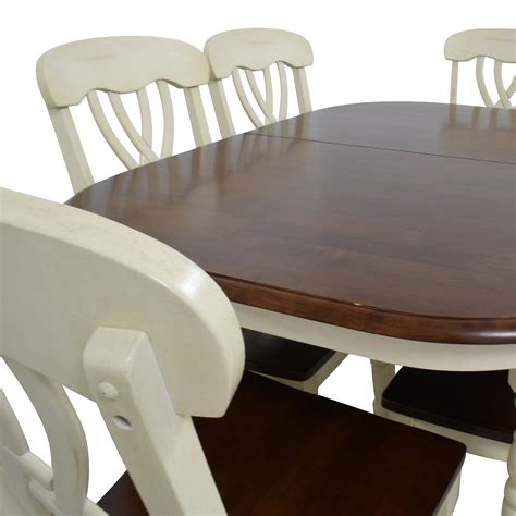 50% OFF  Extendable Wood Dining Table with Chairs Tables