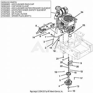 Gravely 991126  050000 -   Pro-turn 160 Parts Diagram For Engine