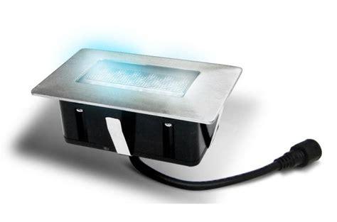 65441 spot rectangulaire 224 led bleue encastrable dans plancher 1 pi 232 ce luminaire ext 233 rieur