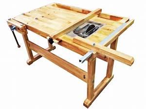 โต๊ะปฎิบัติงานไม้ & เลื่อยวงเดือน