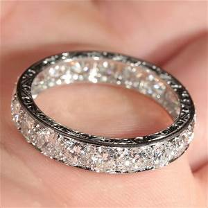 Rubylanecom vintage french retro 38ctw diamond eternity for Engagement wedding and eternity ring