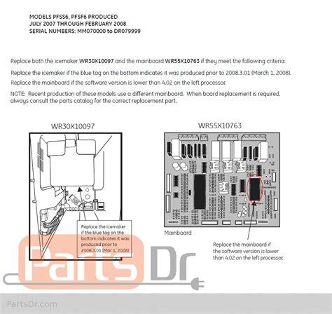 fridge wiring diagram ge profile pfss6pkwass wiring library