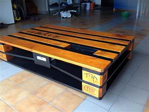Table Basse Palettes : table basse industrielle palette avec chargeur usb ~ Melissatoandfro.com Idées de Décoration