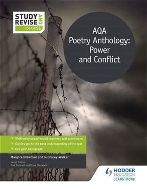 Power And Conflict For Gcse  Aqa Poetry Anthology By Graceywalker, Jo (9781471853562) Brownsbfs