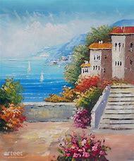 Mediterranean Seascape Oil Paintings