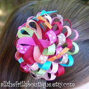 How To Make Ribbon Flower Hair Bows ... Boutique ...