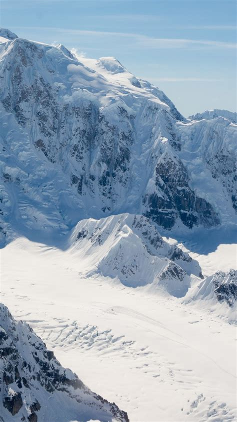 wallpaper mountain alaska snow winter  nature
