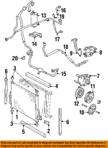 2003 E350 Ac Diagram by Ford Oem 99 03 Windstar Air Conditioner High Pressure Hose