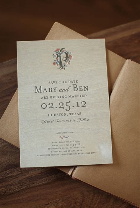 Mary Bens Elegant And Rustic Wood Veneer Save The Dates