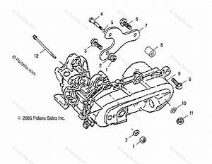 Polaris Atv 2005 Oem Parts Diagram For Engine Bracket