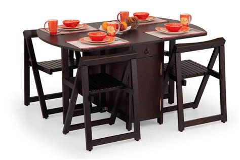 folding kitchen table with chair storage magnificent folding dining room table and chairs 1 surging 8263