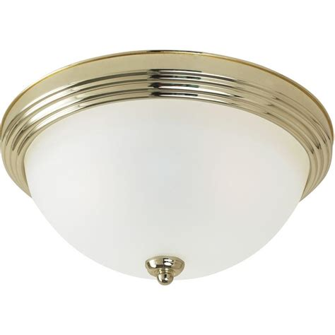 home depot flush mount ceiling light fixtures sea gull lighting 3 light ceiling polished brass flush
