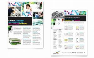 printing company datasheet template design With sales slick template