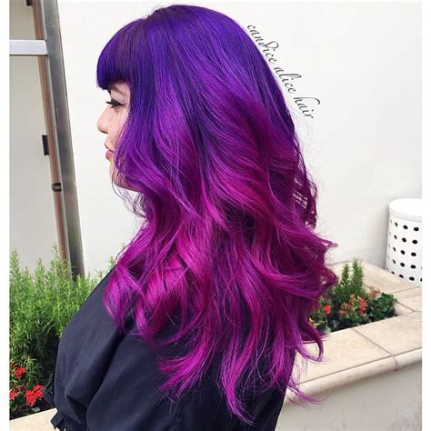 pravana hair color purple pinup hair in purple and pink pravana hair colors
