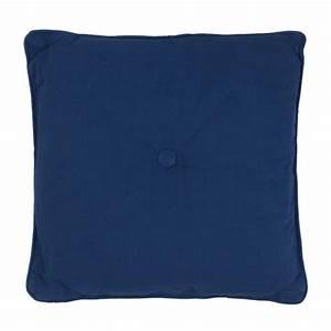 Coussin Bleu Marine : jazz coussin 40x40 bleu marine 100 coton achat vente coussin cdiscount ~ Teatrodelosmanantiales.com Idées de Décoration