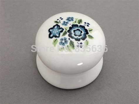 french country cabinet knobs ceramic knobs white blue shabby chic drawer knob pulls