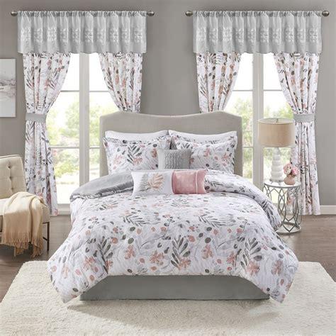 Madison Park Lyla 7 piece Comforter and Sham Set Pink