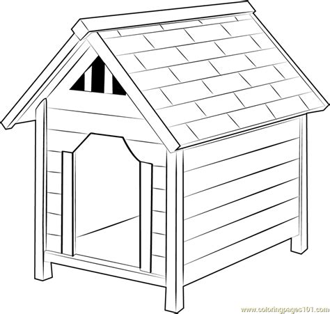 dog houses coloring page  dog house coloring pages coloringpagescom