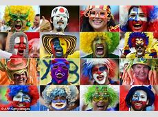 World Cup fans show their true colours with face paints