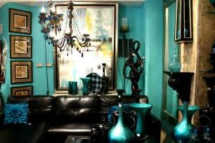 Gold and Teal Living Room Decor