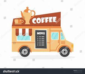 Street Food Truck Vector Illustration Food Stock Vektor ...