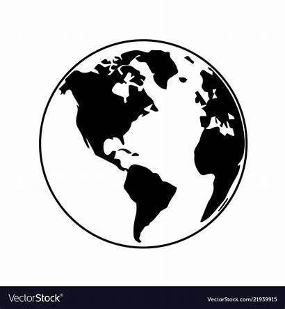 Globe Earth Vectorstock Vectors